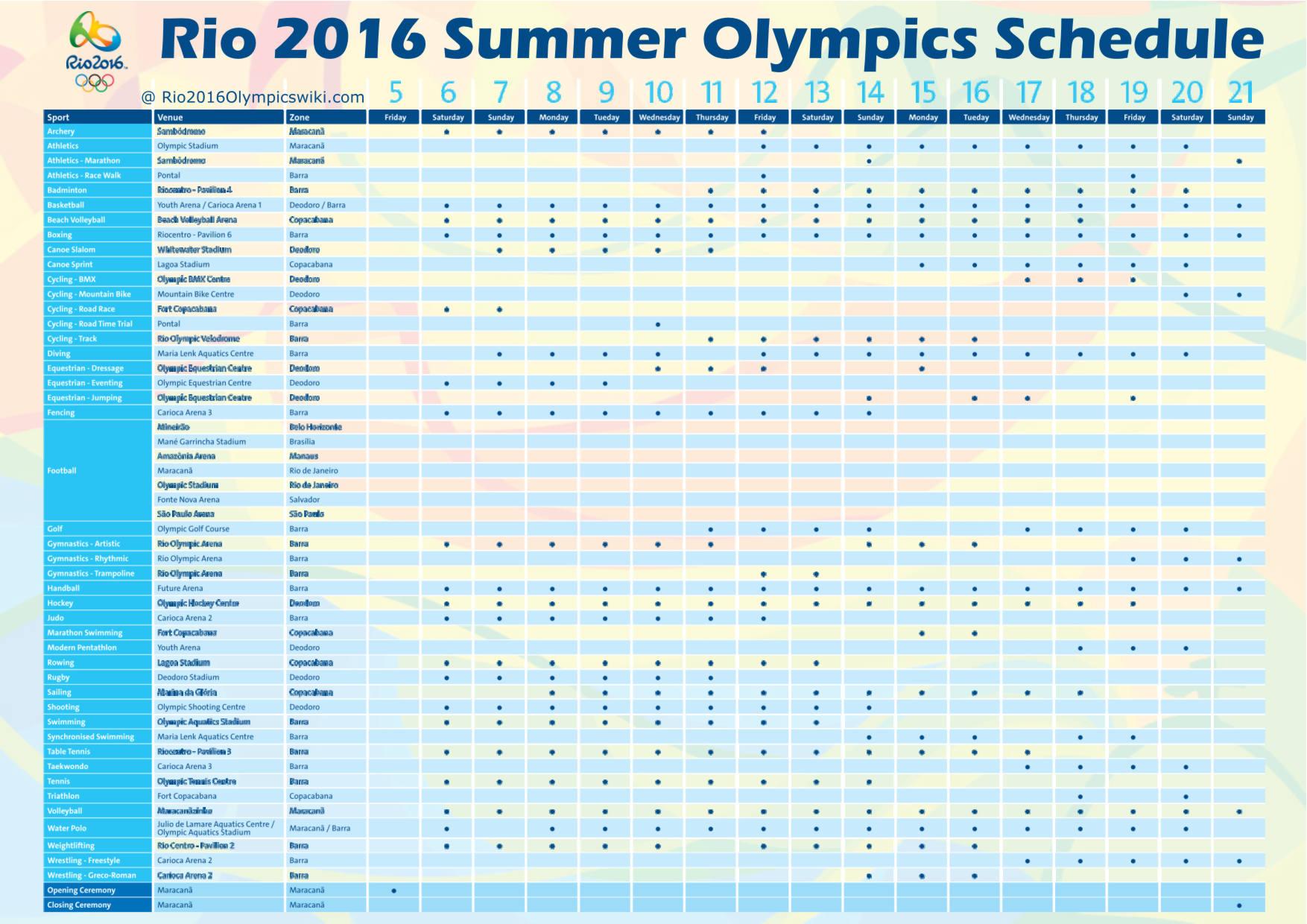 Rio-2016-Olympics-Schedule
