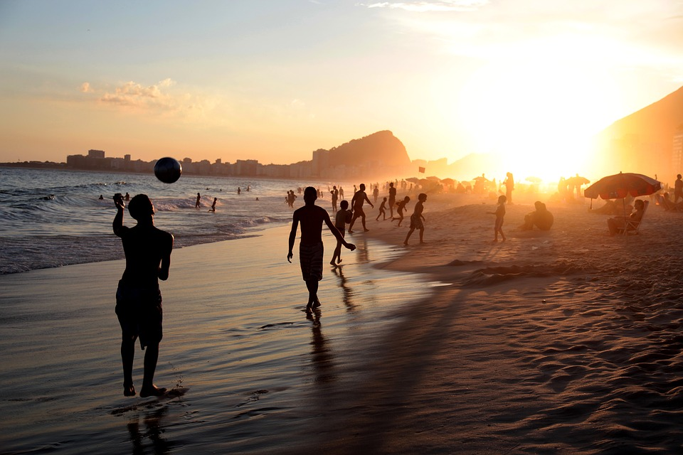Activities at Beach, Rio, Brazin